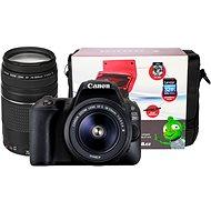 Canon EOS 200D schwarz + 18-55mm DC III + 75-300mm DC III + Canon Starter Kit - Digitale Spiegelreflexkamera