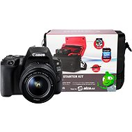 Canon EOS 200D černý + 18-55mm DC III + Canon Starter Kit - Digitale Spiegelreflexkamera