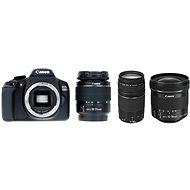 Canon EOS 1300D + 18-55 mm DC III + 75-300 mm DC III + 10-18 mm IS STM - Digitale Spiegelreflexkamera