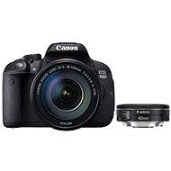 Canon EOS 700D + EF-S 18-135mm IS STM + EF 40mm STM