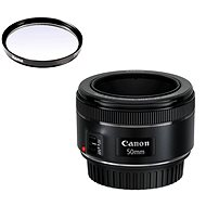 Canon EF 50mm F1.8 STM + UV-Filter Hama 0-HAZE - Objektiv