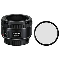 Canon EF 50mm f/1,8 STM + UV filtr Polaroid - Objektiv