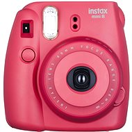 Fujifilm Instax Mini Instant Camera 8S raspberry Small Kit - Digital Camera