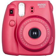 Fujifilm Instax Mini Instant Camera 8S raspberry Medium Kit - Digital Camera