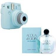 Fujifilm Instax Mini 9 světle modrý + GIORGIO ARMANI Acqua di Gioia EdP 100 ml