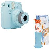 Fujifilm Instax Mini 9 světle modrý + MOSCHINO I Love Love EdT 100 ml