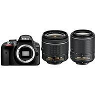 Nikon D3300 + Objektív 18-55 AF-P VR + 55-200 VR II