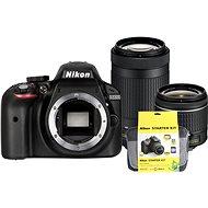 Nikon D3300 + Objektiv 18-55 AF-P + 70-300 AF-P + Nikon Starter Kit - Digitális tükörreflexes fényképezőgép