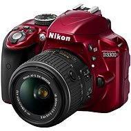 Nikon D3300 RED + lens 18-55 VR AF-P