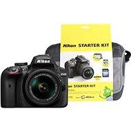 Nikon D3400 fekete + objektív 18-55mm AF-P VR + Nikon Starter Kit - Digitális tükörreflexes fényképezőgép