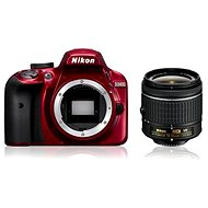 Nikon D3400 red + 18-55 mm VR AF-P