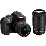Nikon D3400 černý + 18-55mm VR + 70-300 VR - Digitální zrcadlovka