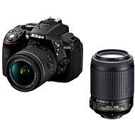 Nikon D5300 Black + 18-55 mm VR AF-P + P 55-200 mm AF-VR II