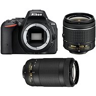 Nikon D5500 Black + 18-55 mm VR AF-P + 70-300 mm VR AF-P