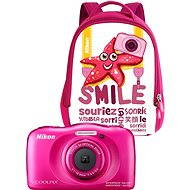 NIKON Coolpix W100 Pink backpack kit - Digitalkamera