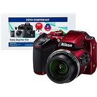 Nikon COOLPIX B500 červený + Alza Foto Starter Kit