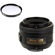 NIKKOR 35mm F1.8 AF-S DX + UV filter Hama 0-HAZE