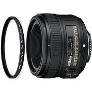 NIKKOR 50 mm F1.8G AF-S + 58 mm UV Filter HOYA PRO 1D DHMC - Lens
