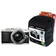 Olympus PEN E-PL7 stříbrný + objektiv 14-42mm Pancake Zoom + Olympus Starter Kit zdarma - Digitální fotoaparát