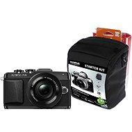 Olympus PEN E-PL7 černý + objektiv 14-42mm Pancake Zoom + Olympus Starter Kit zdarma - Digitální fotoaparát