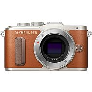 Olympus PEN E-PL8 tělo hnědé - Digitální fotoaparát