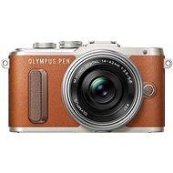 Olympus Camera PEN E-PL8 Brown Pancake Lens + ED 14-42EZ Silver - Digital Camera