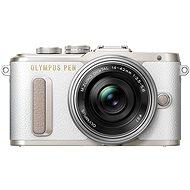 Olympus PEN E-PL8 bílý + Pancake objektiv ED 14-42EZ stříbrný
