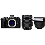 Olympus E-M5 Mark II BODY + 12-40 mm Objektiv PRO, schwarz/ schwarz - Digitalkamera