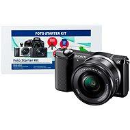 Sony Alpha 5000 černý + objektiv 16-50mm + Alza Foto Starter Kit
