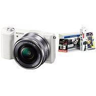 Sony Alpha A5100 bílý + objektiv 16-50mm + Alza Foto Starter Kit