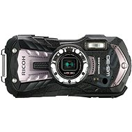 PENTAX RICOH WG-30 Wi-fi-Carbon-Grau + 8 GB SD-Karte + Neopren-Hülle + Schwimmleine