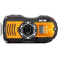 PENTAX RICOH WG-5 orange GPS + 8 GB SD-Karte + Neopren-Hülle + Schwimmleine