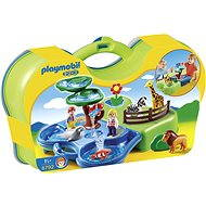 Playmobil 1.2.3 Portable water playground in the ZOO