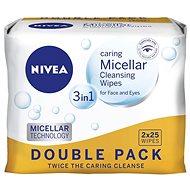 NIVEA Cleansing Wipes All skin types Duopack 2 × 25 ks - Odličovací ubrousky