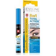 EVELINE COSMETICS Eyebrow Th. Professional Corrector With Henna 8in1 10 ml - Korektor
