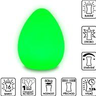 Colour changing Egg ( Large ) - Dekorativní osvětlení