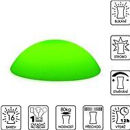 Colour changing Flat Pebble (stepping stone) - Dekorativní osvětlení