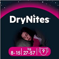 HUGGIES Dry Nites Large 8-15 years Girls (9 ks)