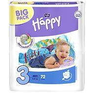 Bella Baby HAPPY vel. 3 Midi (78 ks)