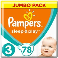 Pampers Sleep&Play JP Midi (78 ks)