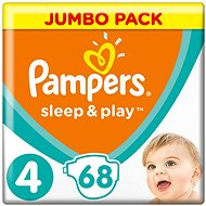 PAMPERS Sleep&Play JP vel. 4 Maxi (68 ks)