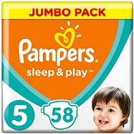 PAMPERS Sleep&Play JP vel. 5 Junior (58 ks)
