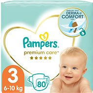 PAMPERS Premium Care vel. 3 Midi (80 ks)