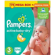 Pampers Active Baby-Dry veľ. 3 Midi Mega box (174 ks) - mesačná zásoba