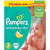 PAMPERS Active Baby-Dry vel. 3 Midi Mega Box Plus (174 ks) - Dětské pleny
