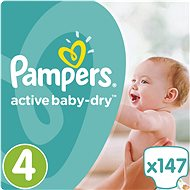 PAMPERS Active Baby-Dry vel. 4 Maxi Mega Box Plus (147 ks)