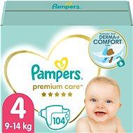 PAMPERS Premium Care vel. 4 MAXI (104 ks) - měsíční zásoba - Dětské pleny