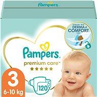 PAMPERS Premium Care vel. 3 Midi (120 ks) - měsíční zásoba - Dětské pleny