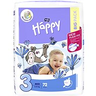 BELLA Baby Happy vel. 3 Midi (72 ks) - Dětské pleny
