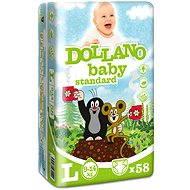 DOLLANO Baby Standard L 58 ks - Dětské pleny